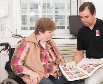 Sie haben eine  Behinderung? Kein Problem, die Praxis ist zugänglich.