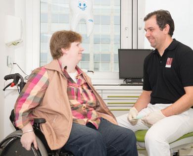 Unsere Praxis ist für jeden frei zugänglich da Behindertengerecht.